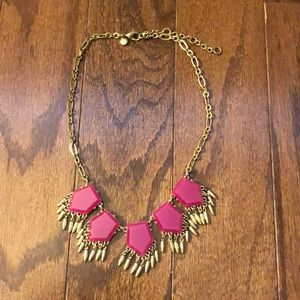 Jcrew pink and gold necklace.